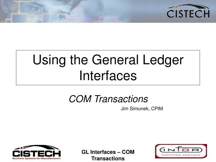 using the general ledger interfaces n.