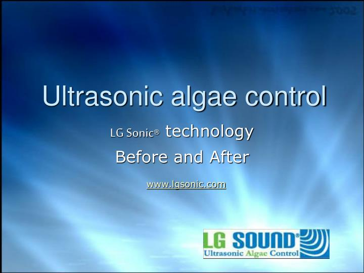 ultrasonic algae control n.