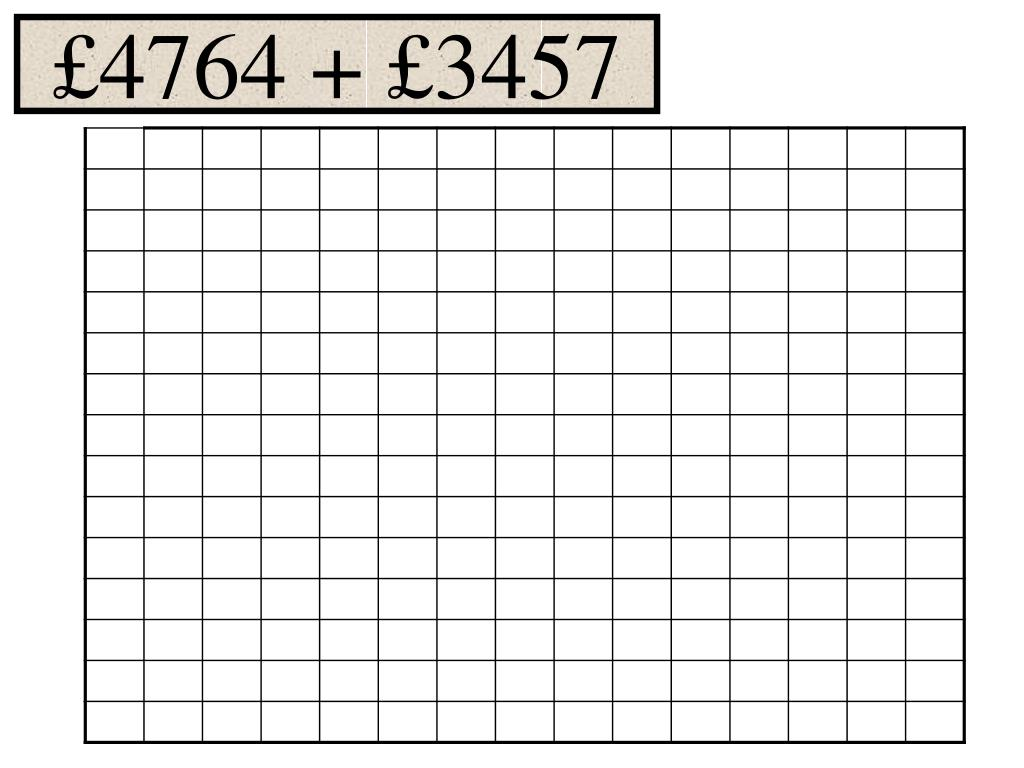 £4764 + £3457