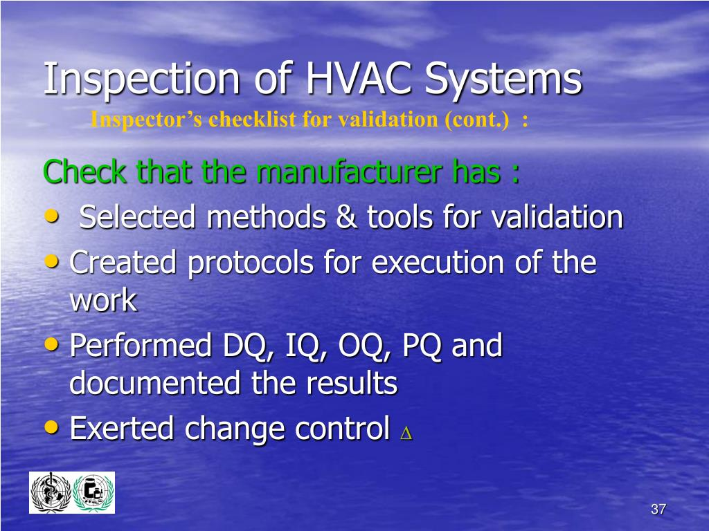 Inspection of HVAC Systems