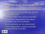maintenance of hvac systems40