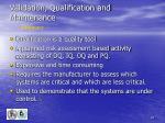validation qualification and maintenance