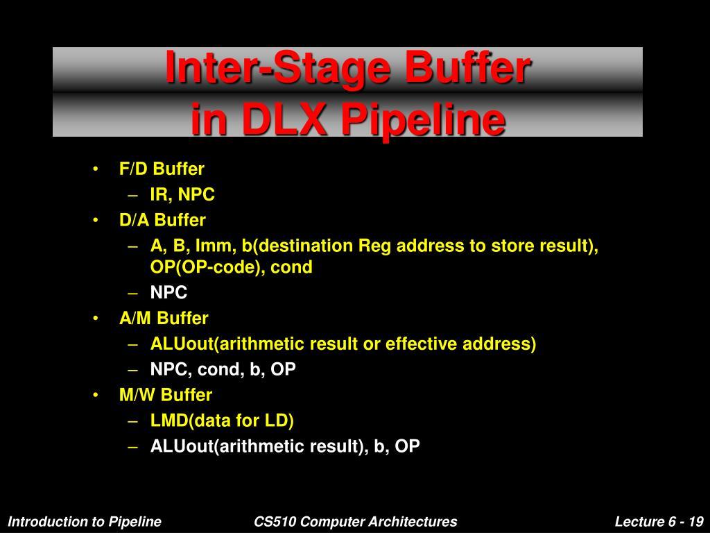 Inter-Stage Buffer
