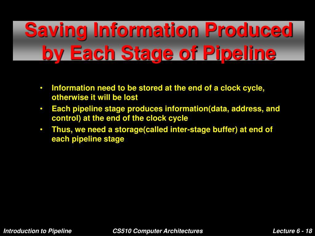 Saving Information Produced