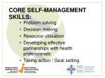 core self management skills