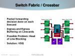 switch fabric crossbar