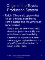 origin of the toyota production system