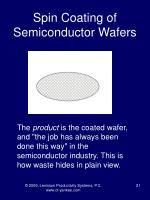 spin coating of semiconductor wafers