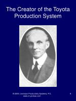the creator of the toyota production system