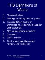 tps definitions of waste