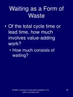 waiting as a form of waste