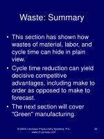 waste summary