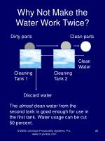 why not make the water work twice