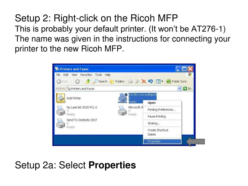 PPT - Locked Print Setup & Use for Ricoh MFP PowerPoint Presentation