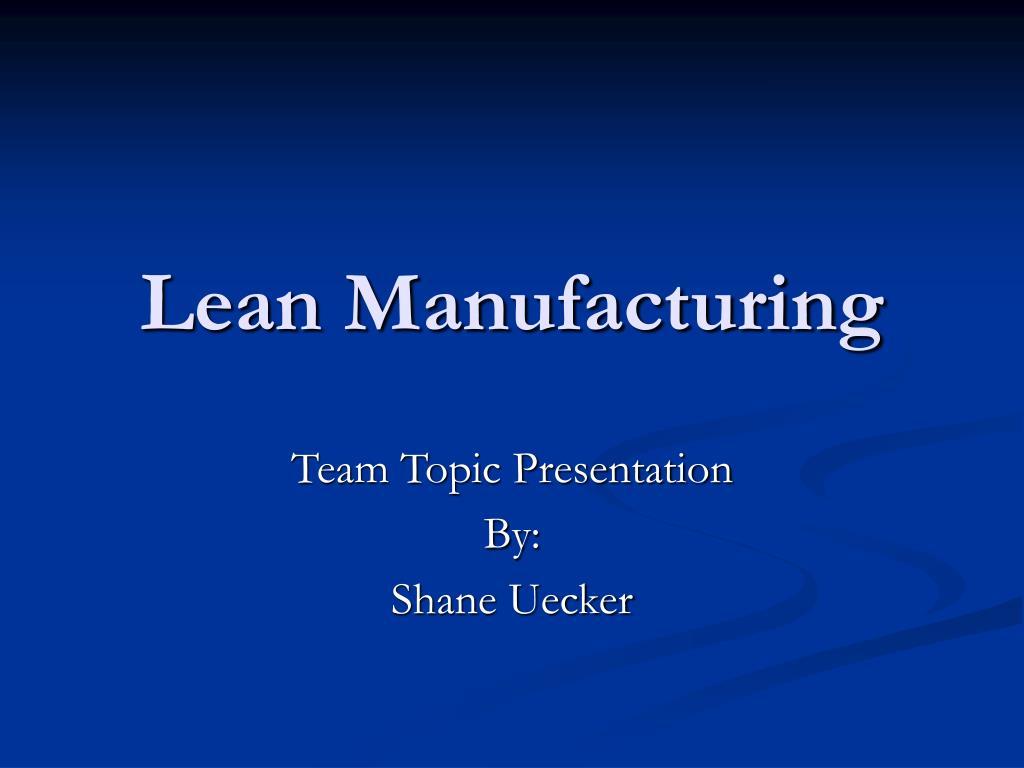 lean manufacturing l.