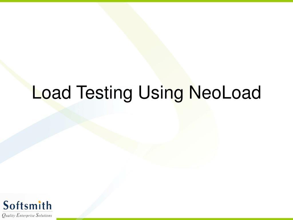 load testing using neoload l.