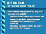 nuts and bolts the reengineering process11