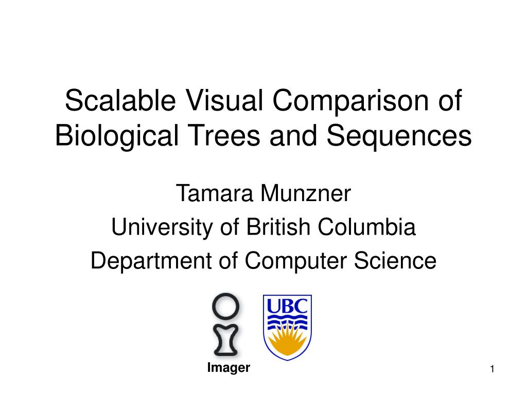 scalable visual comparison of biological trees and sequences l.