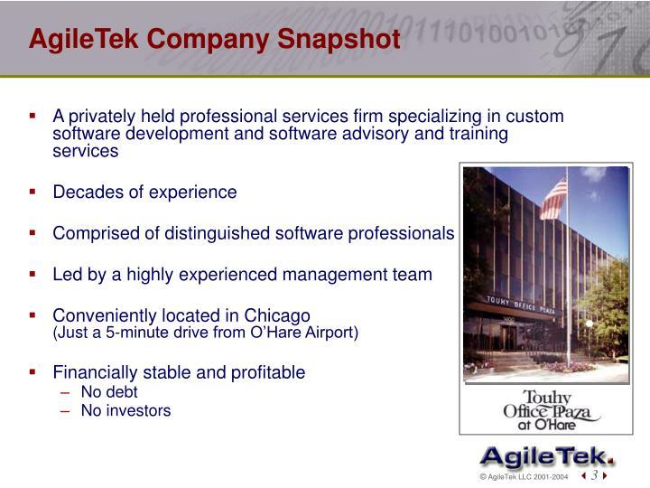 Agiletek company snapshot