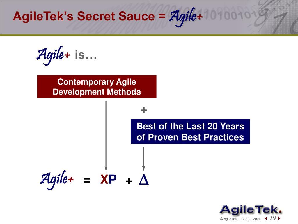 AgileTek's Secret Sauce =