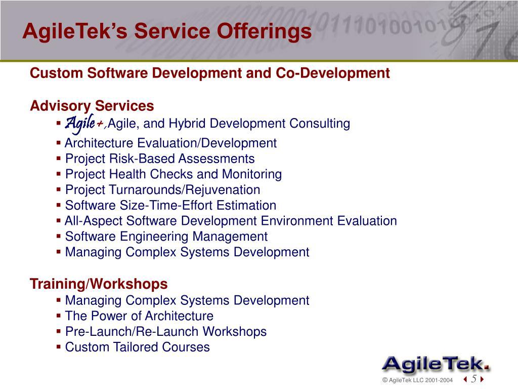 AgileTek's Service Offerings