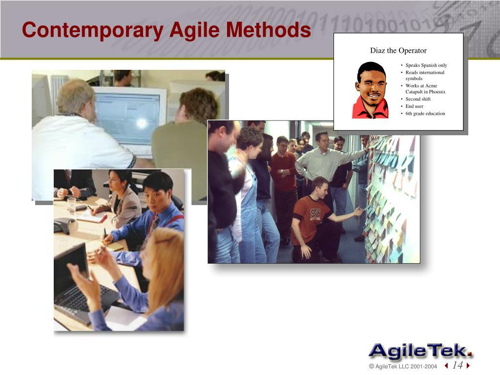 Contemporary Agile Methods