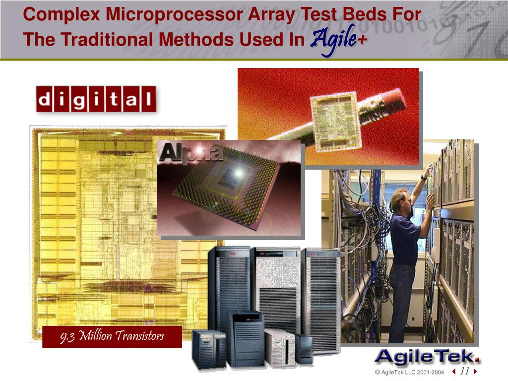 Complex Microprocessor Array Test Beds For The Traditional Methods Used In