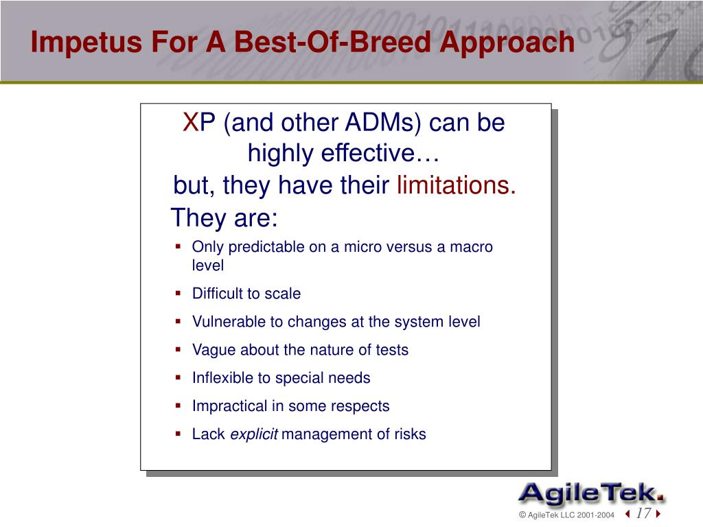 Impetus For A Best-Of-Breed Approach