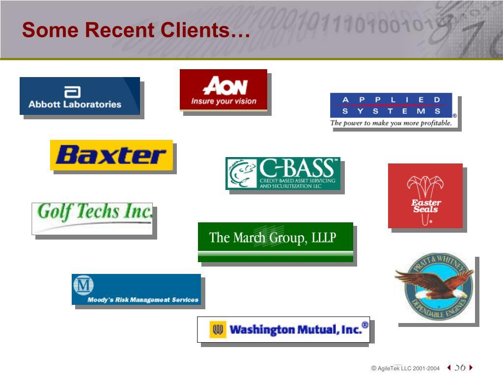 Some Recent Clients…