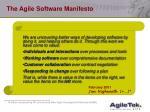 the agile software manifesto
