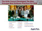 the airlie council developed the nine principal best software practices for dod
