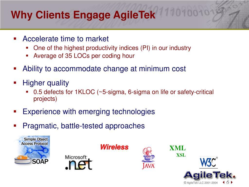 Why Clients Engage AgileTek