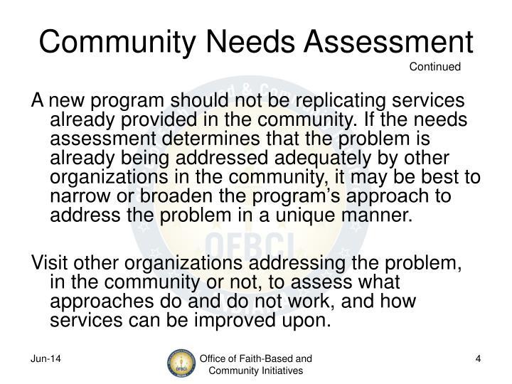 Community Needs Assessment