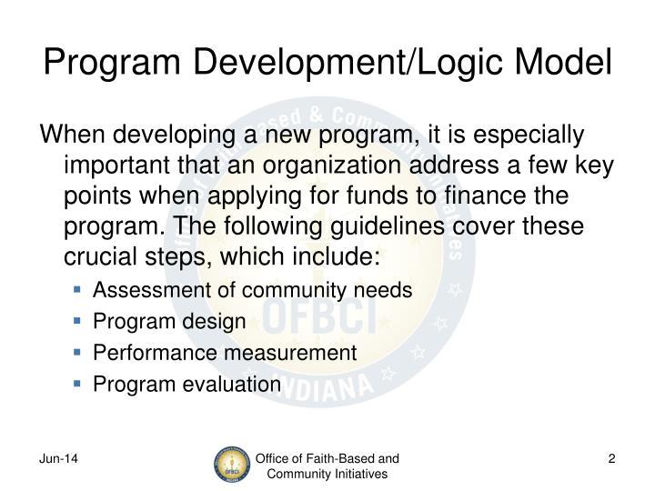 Program development logic model1