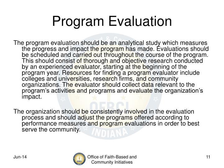 Program Evaluation