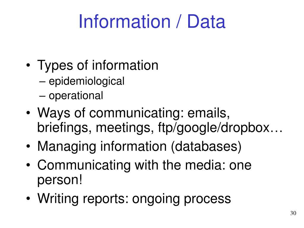 Information / Data