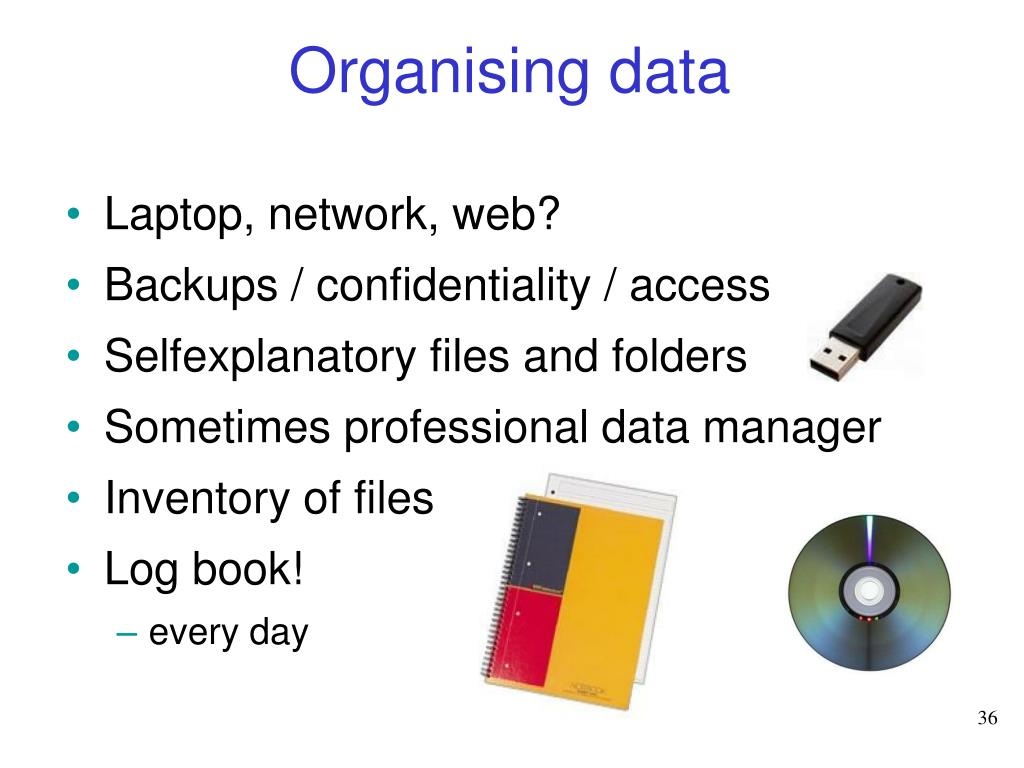 Organising data