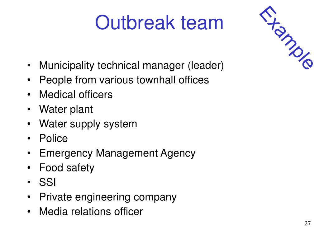 Outbreak team