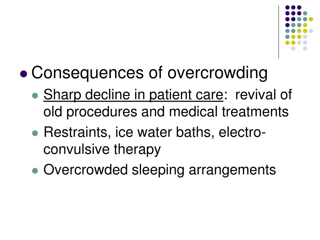 Consequences of overcrowding