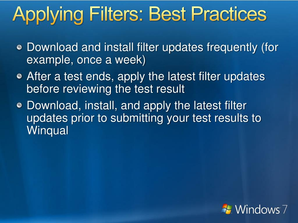 Applying Filters: Best Practices