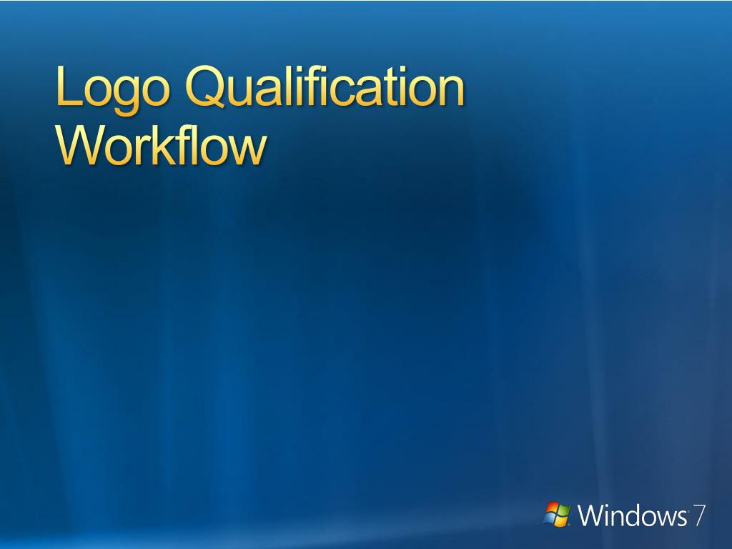 Logo Qualification Workflow