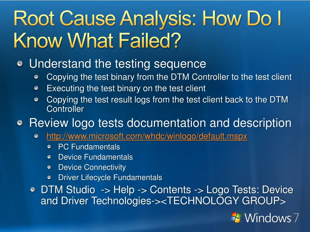 Root Cause Analysis: How Do I Know What Failed?