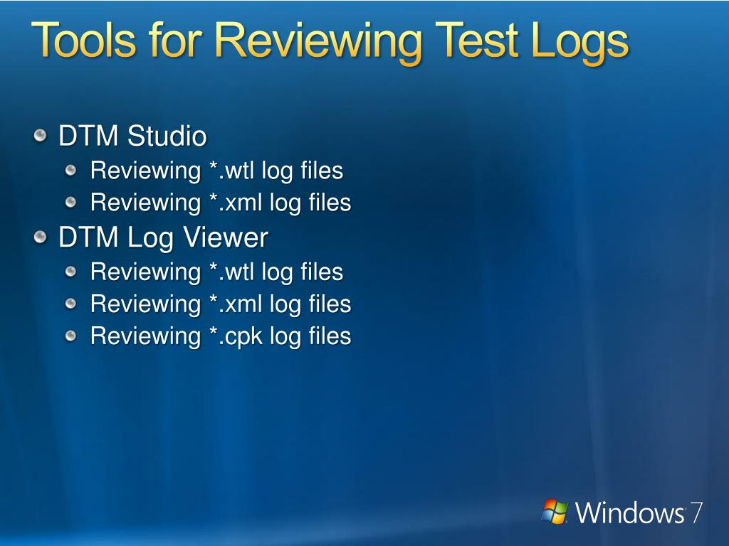 Tools for Reviewing Test Logs