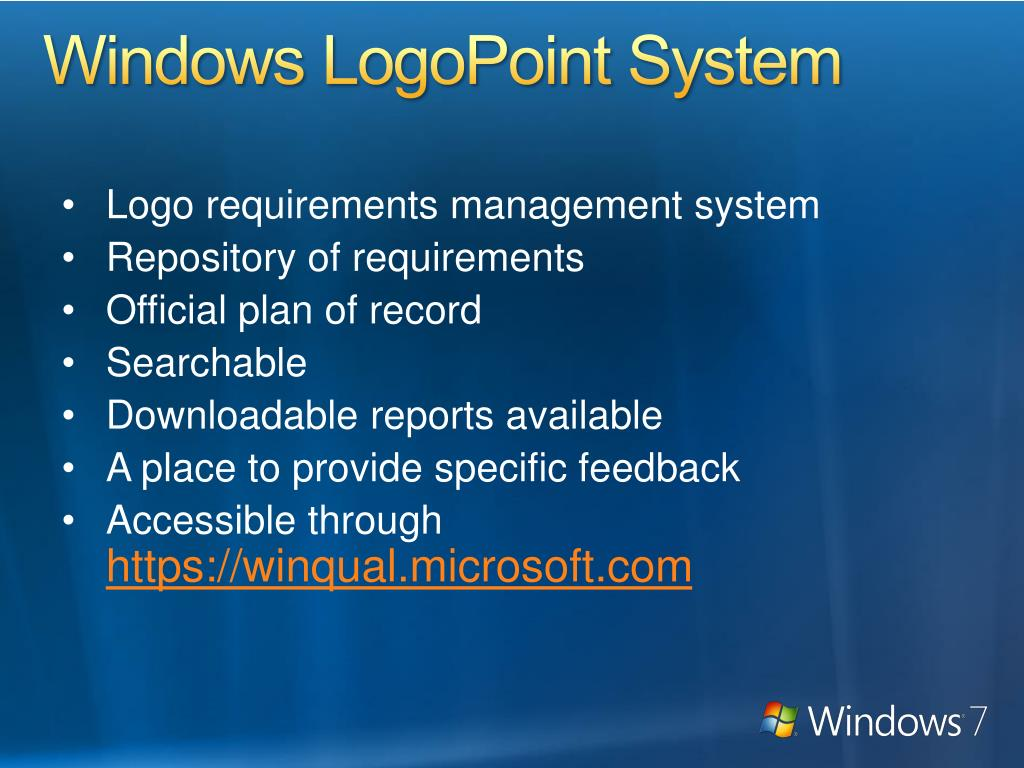 Windows LogoPoint System