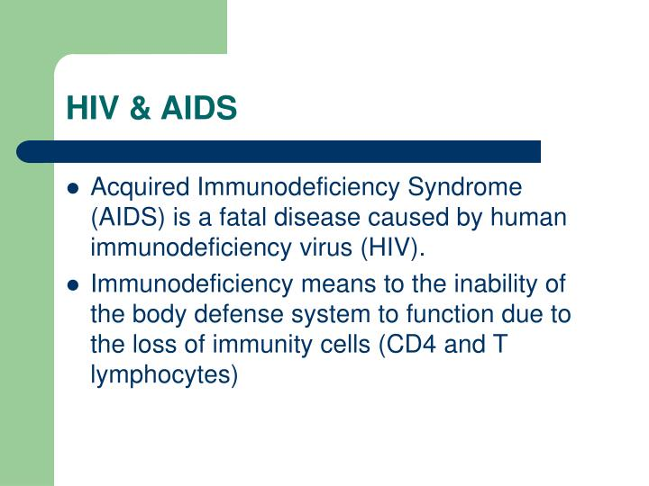 an essay on acquired immunodeficiency syndrome aids