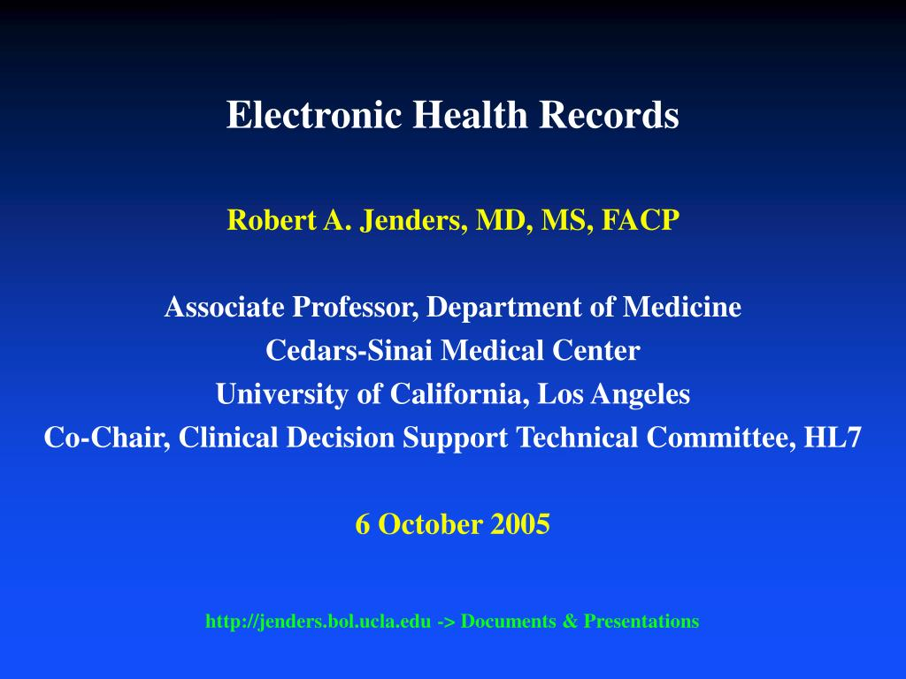 PPT - Electronic Health Records PowerPoint Presentation - ID