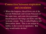 connection between respiration and circulation49