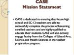 case mission statement