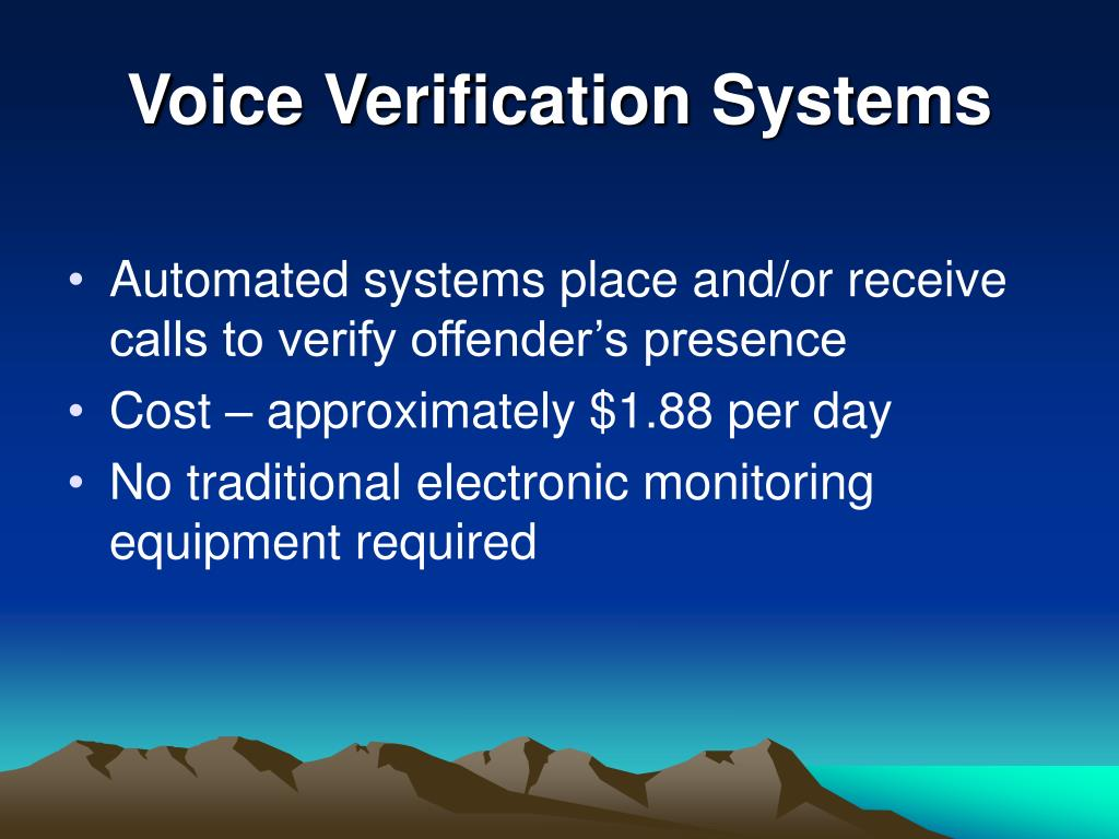 Voice Verification Systems