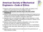 american society of mechanical engineers code of ethics